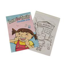 "Dental Coloring Book, 6 Pages per Book, 5"" x 7"", 12/Pkg"