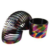 "Metallic Rainbow Coil Spring, Multicolored, 3-1/4"", 12/Pkg"
