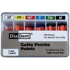 Feathered Tip Gutta Percha Points, 100/Pkg