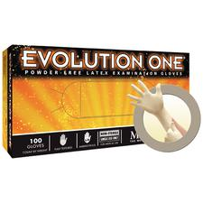 Evolution One® Latex Exam Gloves – Powder Free, 100/Box, 10 Boxes/Case