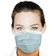 Masques à bandes auriculaires Ultra® – ASTM niveau3, sans latex, bleu, 40/boîte