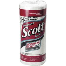 Essuie-tout Scott® – Blancs, 20 rouleaux/carton