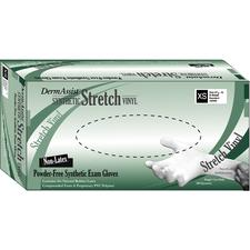 DermAssist™ Synthetic Stretch Vinyl Exam Gloves – Powder Free, 100/Box
