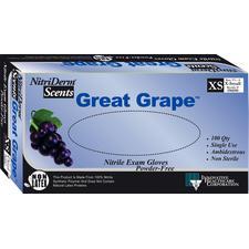 Nitriderm® Great Grape™ Nitrile Exam Gloves, 100/Box