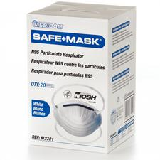 Masque respiratoire à Safe+Mask® N95 – 20/boîte