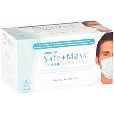 Safe+Mask® Premier Plus Earloop Masks, 50/Pkg