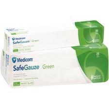 SafeGauze® Green Sponges with Diamond Aperture – Nonwoven, Nonsterile
