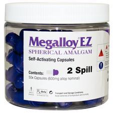 Megalloy® EZ Premium Spherical Amalgam Alloy Capsules – Regular Set, Purple, 2 Spill, 400 mg, 50/Pkg