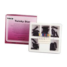 Twinky Star Colored Glitter Light-Curing Compomer, Intro Kit