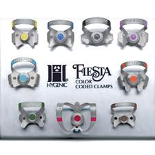 Hygenic® Fiesta® Color-Coded Clamps, Matte Finish