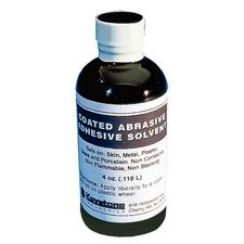 Coated Abrasive Adhesive Solvent, 4 oz Bottle