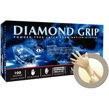 Diamond Grip™ Latex Gloves, 100/Box