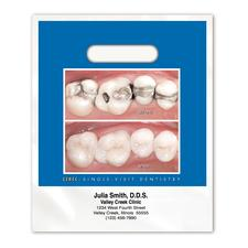 """Full-Color Supply Bag, Personalized, 9"""" W x 13"""" H, 100/Pkg"""