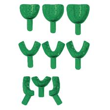 COE® Disposable Spacer Impression Trays – Perforated, Green Color, 12/Bag
