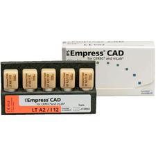 Blocs IPS Empress® CAD TF (translucidité faible), 5/emballage