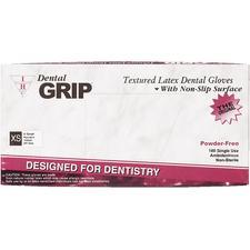 Dental Grip® Latex Powder Free Gloves – 100/Box, 10 Boxes/Case