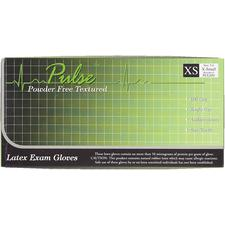 Pulse™ Latex Exam Gloves – Powder Free, Textured, 100/Box, 10 Boxes/Case