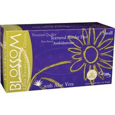 Blossom® Latex Exam Gloves with Aloe Vera – Powder Free, 100/Box