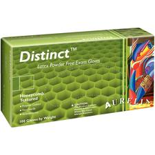 Aurelia® Distinct™ Honeycomb Textured Latex Gloves - Powder Free, 100/Box, 10 Boxes/Case
