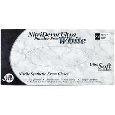 NitriDerm® Ultra White Latex-Free Gloves  – 100/Box, 10 Boxes/Case