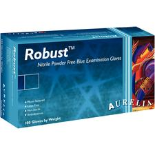 Aurelia® Robust™ Soft Nitrile Exam Gloves – Powder free, Blue, 100/Pkg