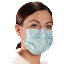 Critical Cover® AlphaAir® Earloop Face Masks – ASTM Level 1, Blue, 500/Case (10 Boxes of 50)