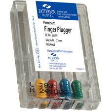 Patterson® Finger Pluggers – Color-Coded Plastic Handles, 4/Pkg