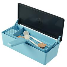 Patterson® Germicide Tray With Plastic Lid, Blue