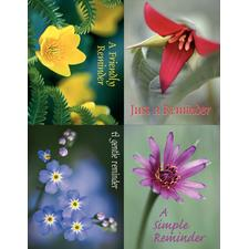 "Floral Assortment Pack 4-Up Laser Postcard, 4-1/4"" W x 5-1/2"" H, 100/Pkg"
