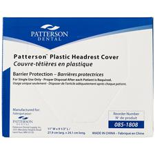 Patterson® Plastic Headrest Covers – Clear, 250/Pkg