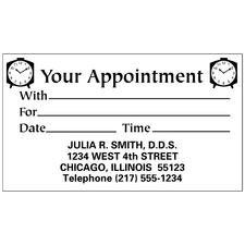 "Large Print Appointment Card, 3-1/2"" W x 2"" H, 500/Pkg"