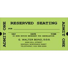 "Reserved Seating Appointment Card, 4-1/8 W x 2"" H, 500/Pkg"