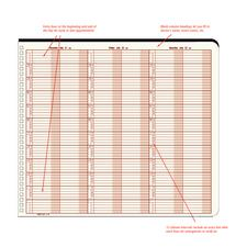 "Midsize Time Flex Appointment Book, 12-1/2"" x 11"""