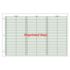 Jumbo Preprinted Days Week-in-View Appointment Sheets, 15-Minute Intervals, 8 a.m. – 6 p.m., 100/Pkg