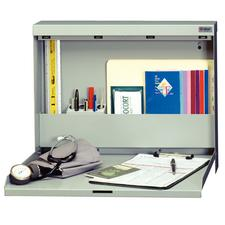 "Datum Nonlocking WallWrite® Fold-Up Desk, 20"" W x 16-3/8"" H x 3-3/8"" D, 7 Color Choices"