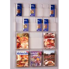 "Combination Display Racks, 6 Magazines/12 Brochures, 30"" W x 45"" H x 2"" D"