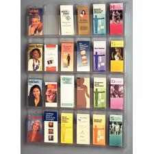 "Clear Plastic Brochure Display Racks, 24 Brochures, 30"" W x 41"" H x 2"" D"