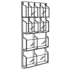 "Combination Display Racks, 4 Magazines/8 Brochures, 21"" W x 45"" H x 2"" D"
