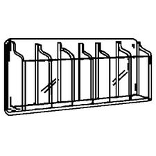 "Clear Plastic Brochure Display Racks, 12 Brochures, 30"" W x 20-3/8"" H x 2"" D"