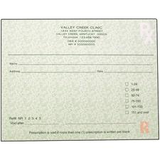 "Kentucky Prescription Blanks, 1 Part, Personalized, 5-1/2"" W x 4-1/4"" H, 100 Sheets/Pad; 10 Pads/Pkg"