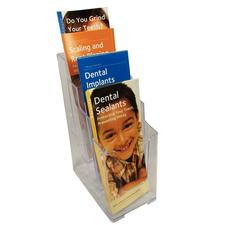 "Deflecto 4-Tier Literature Holder, 4-7/8"" W x 10"" H x 8"" D"