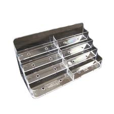 "Countertop Business Card Holders, 8 Pocket, 7-7/8"" W x 3-7/8"" H x 2-5/8"" D"