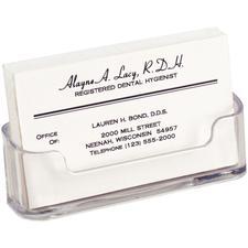 "Deflecto Horizontal Business Card Holder, 3-3/4"" W x 1-7/8"" H x 1-1/2"" D"
