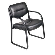 "BOSS Leather Guest Chair, 20"" W x 32"" H x 21"" D"
