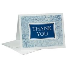 "Blue Marble Thank You Blank Card and Envelope Set, 5-1/2"" W x 4-1/4"" H, 50/Pkg"
