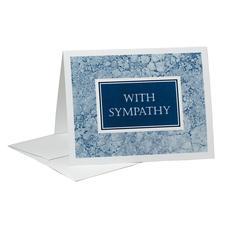 "Blue Marble Sympathy Card with Envelope, 5-1/2"" W x 4-1/4"" H, 50/Pkg"