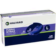 Gants d'examen sans poudre en nitrile, violet