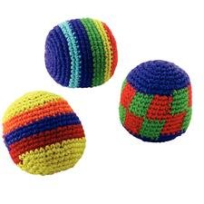 "Knitted Kick Balls, Assorted Colors, 2 -1/2"", 12/Pkg"