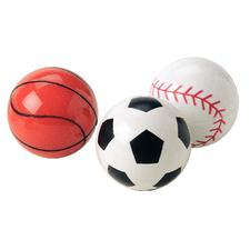 "Sports Superballs, Assorted, 1-1/4"", 48/Pkg"