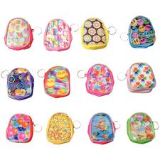 "Flicker Backpack Keychain, Assorted, 3"", 12/Pkg"